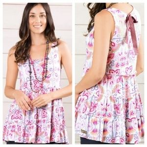 Matilda Jane Breathe Deeply Foral Ruffle Tank Top